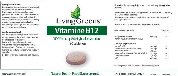 Vitamine B12 etiket